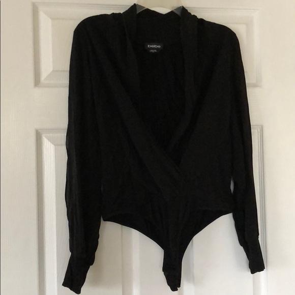 f1f2be5bb65bc bebe Tops - Black Bebe bodysuit